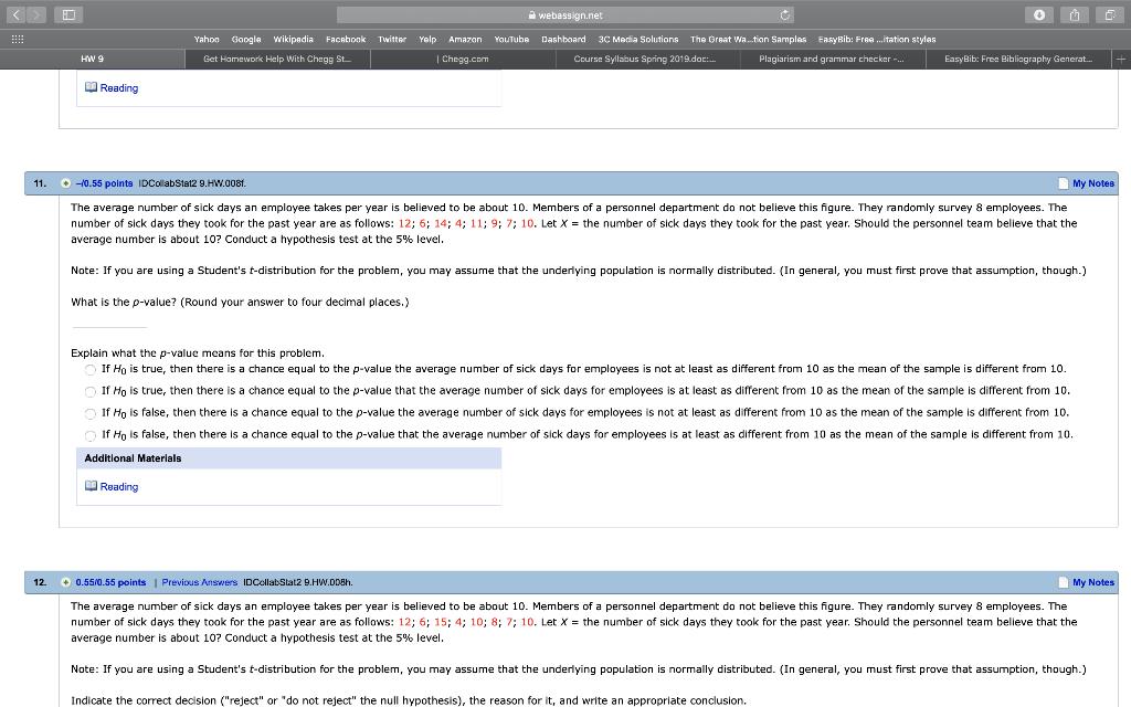 Solved: Webassign net Yahoo Google Wikipadia Facabook Twit