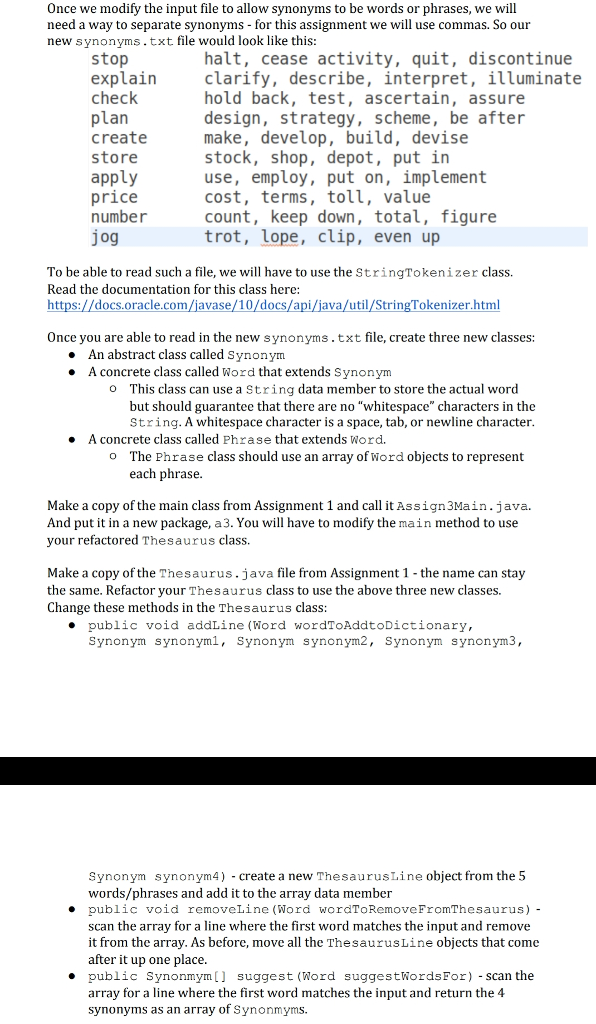 Language: Java Pretty Much Need Help Creating The