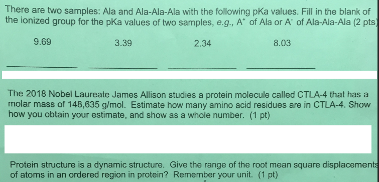 Solved There Are Two Samples Ala And Ala Ala Ala With Th