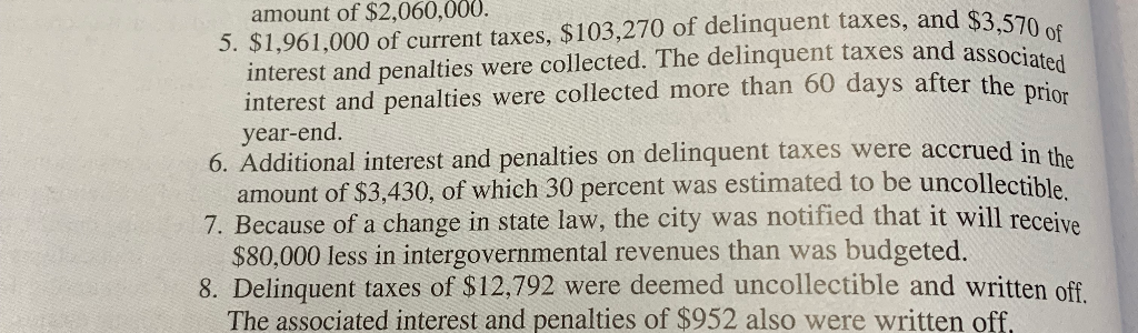 amount of $2,060,000. interest and penalties were collected. The delinquent taxes and associa interest and penalties were col