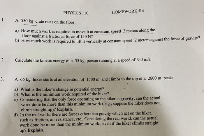 Solved Physics 110 Homework 4 1 A 550 Kg Crate Rests O