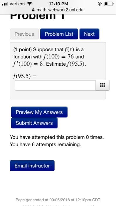 solved verizon 12 10 pm math webwork2 unl edu previous pr