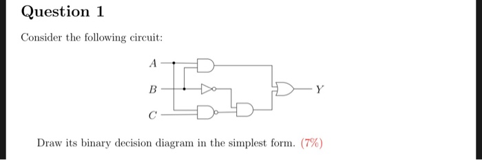 Solved Question 1 Consider The Following Circuit D Ld Dr