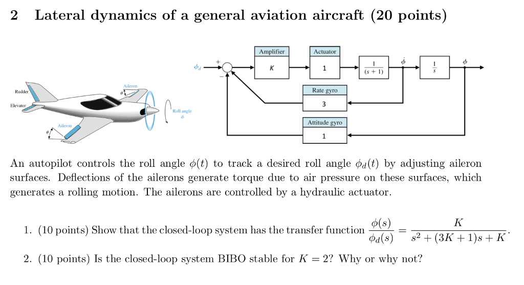 Excellent Solved 2 Lateral Dynamics Of A General Aviation Aircraft Wiring Cloud Philuggs Outletorg