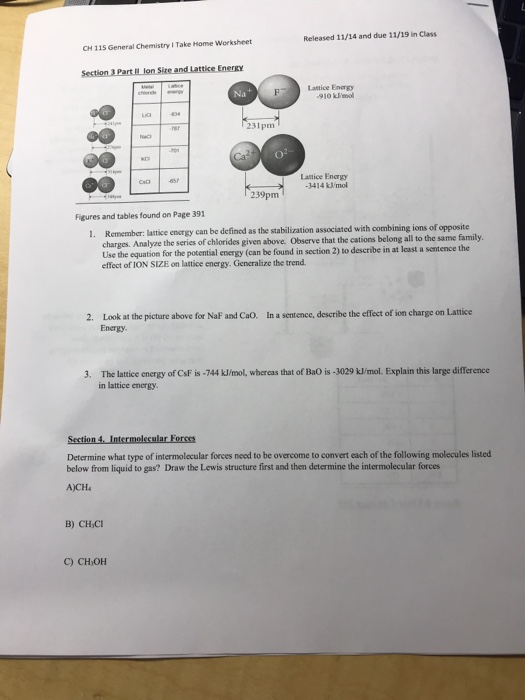 Solved: Released 11/14 And Due 11/19 In Class Take Home Wo ...