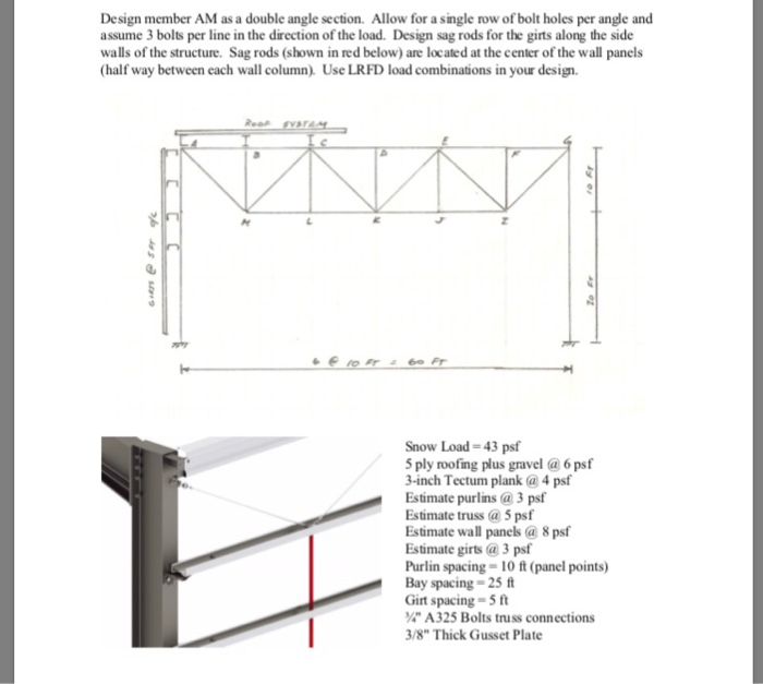 Design Member AM As A Double Angle Section  Allow     | Chegg com