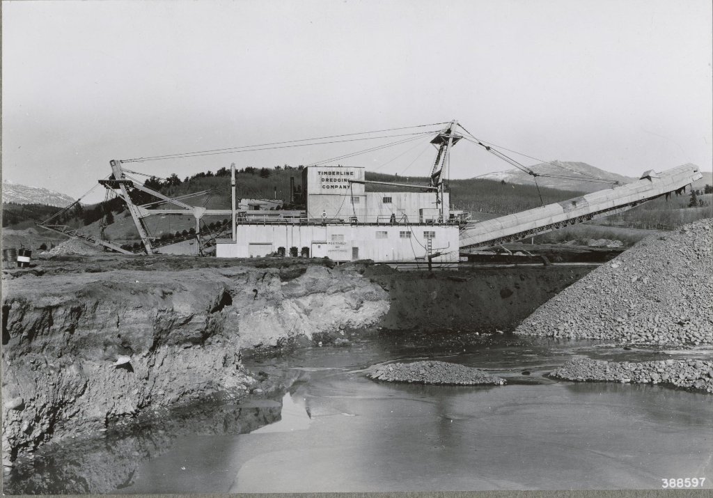This Historic Photo Shows A Gold Mining Dredge In