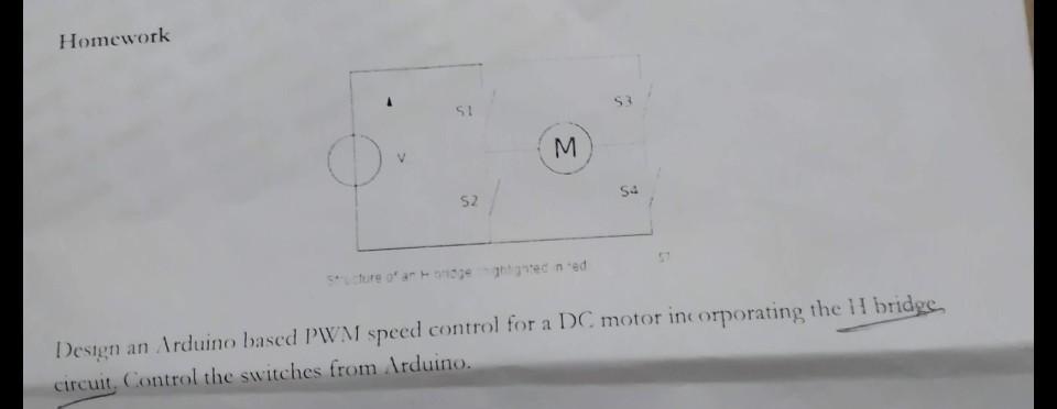 Solved: Homework S 3 52 Design An Arduino Based PWM Speed