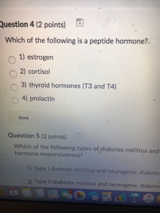 Solved: Question 4 (2 Points) Which Of The Following Is A