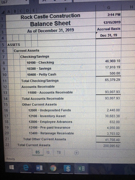 Please Assist In Preparing The Income Statement An ...