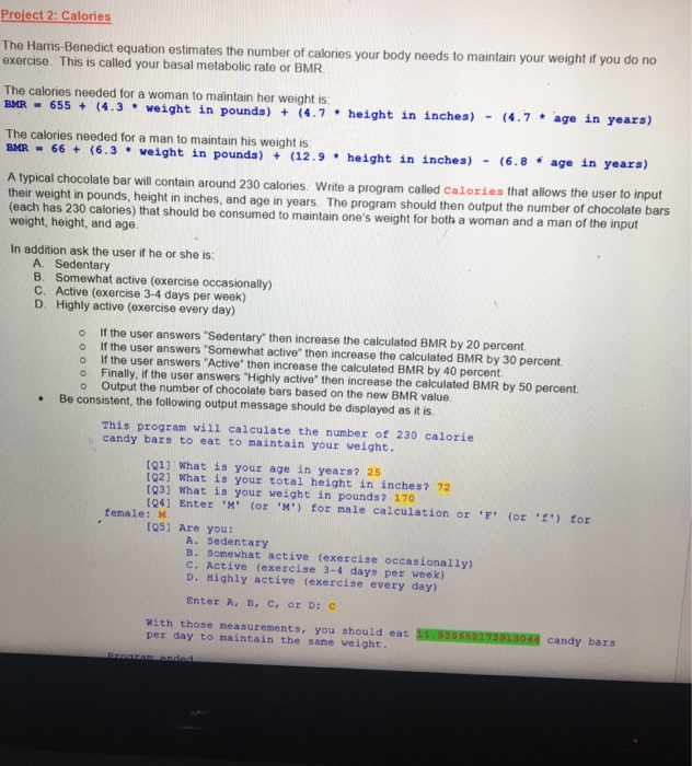 Solved: This Is For Java And Use Only Switch Case Statemen