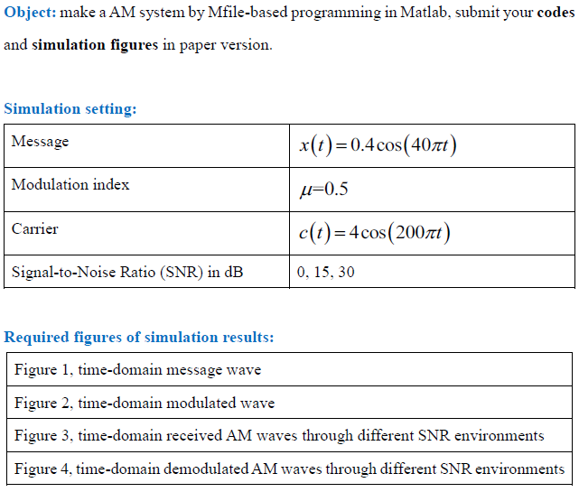 Object: Make A AM System By Mfile-based Programmin    | Chegg com