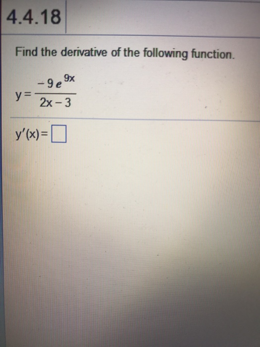 卹`*y����$:`�y�%9e,y/&_Solved:FindTheDerivativeOfTheFollowingFunction.Y=|Chegg.com