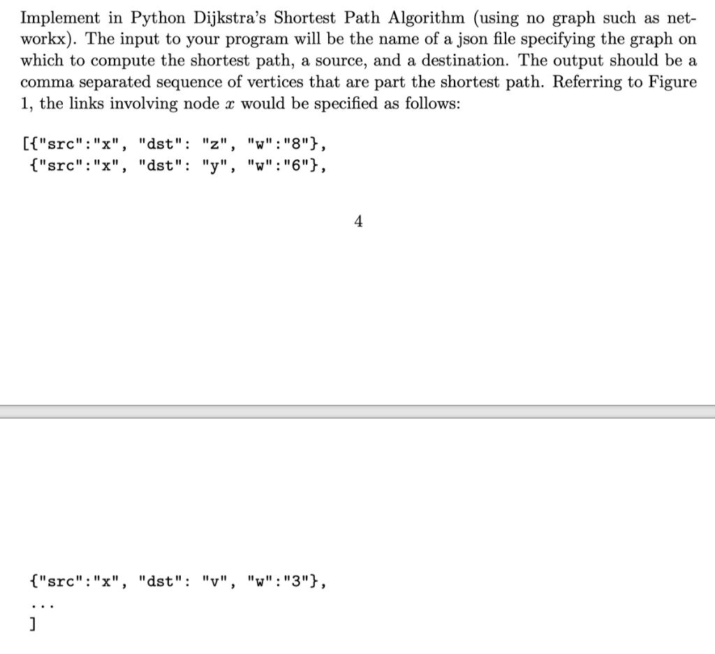 Implement In Python Dijkstra's Shortest Path Algor    | Chegg com