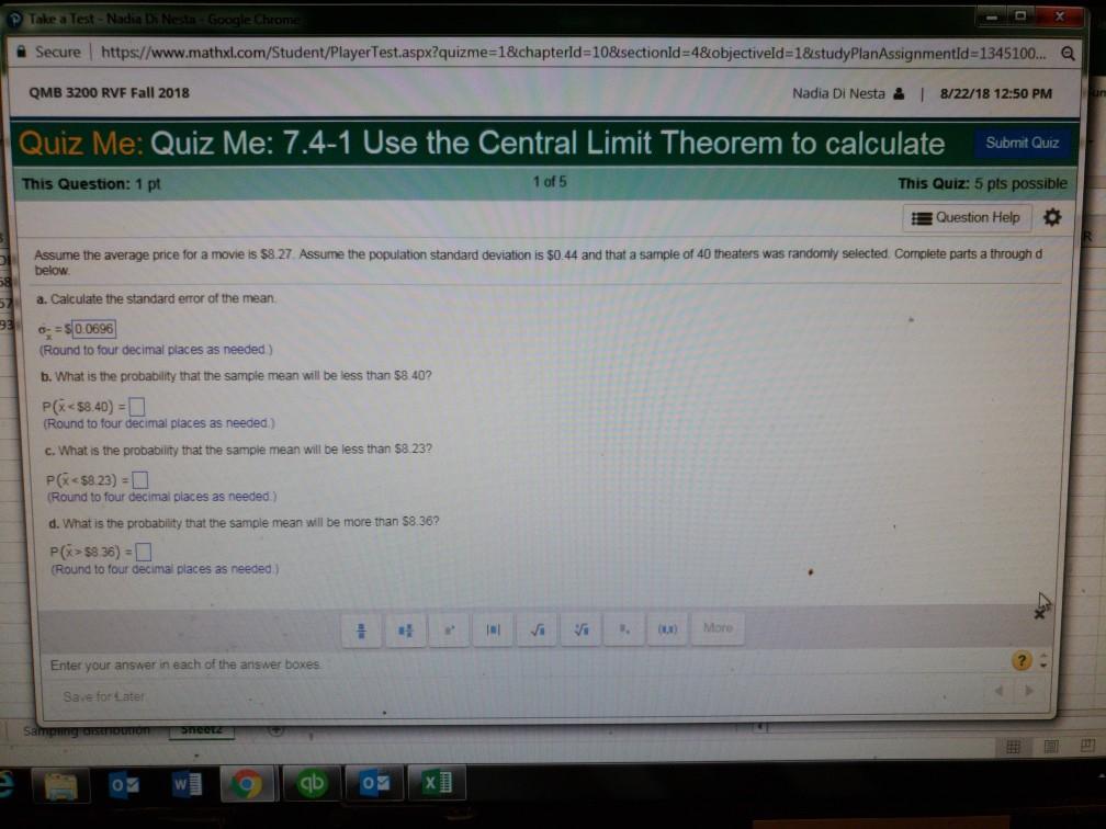 Solved: Take A Test Nadia Di Nesta Google Chrom Secure QMB