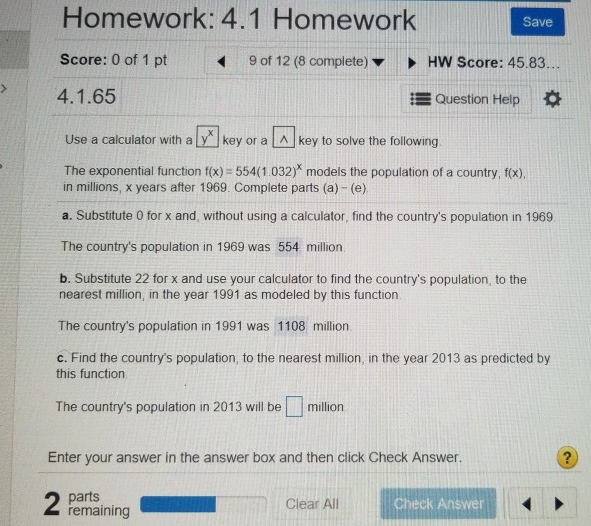 Solved: Homework: 4 1 Score: 0 Of 1 Pt 4 1 65 Homework Sav