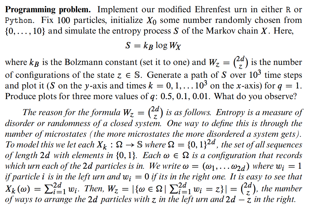 Programming Problem  Implement Our Modified Ehrenf
