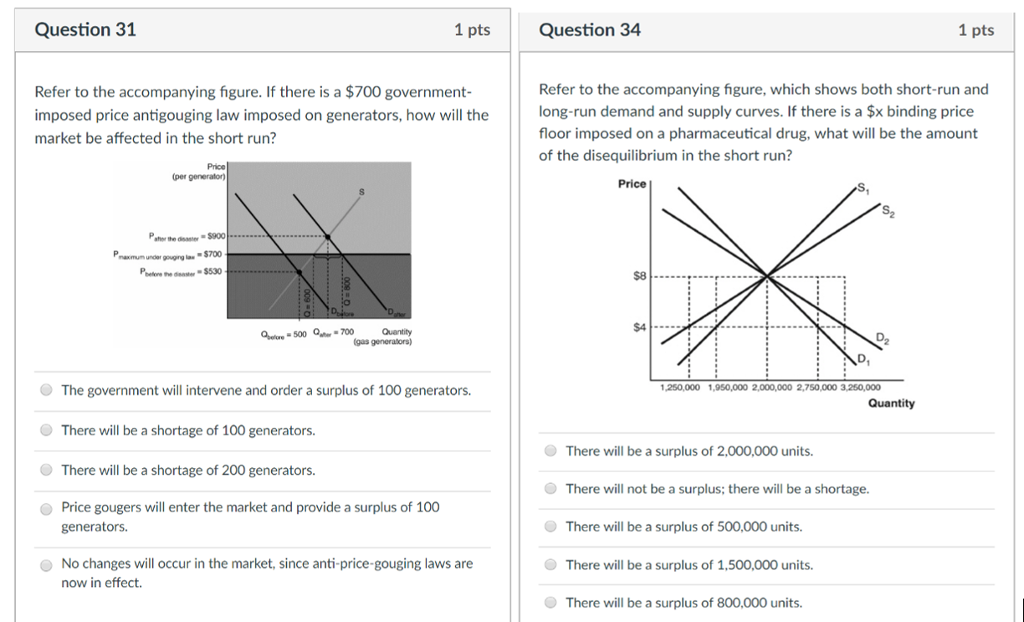 Solved: Question 31 1 Pts Question 34 1 Pts Refer To The A