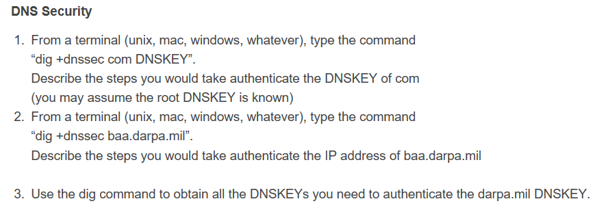 DNS Security 1  From A Terminal (unix, Mac, Window