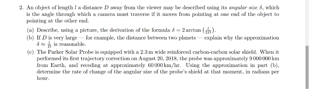 Solved: 2  An Object Of Length I A Distance D Away From Th