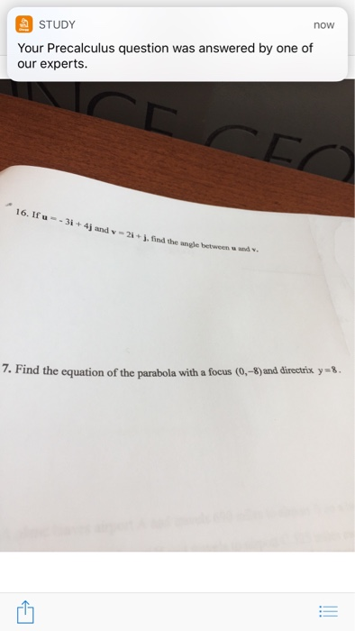 Solved: Now STUDY Your Precalculus Question Was Answered B