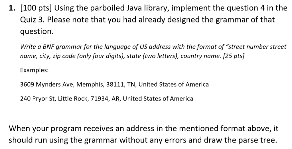 BNF Grammar In Question Is: := :=