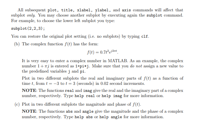 Solved: MATLAB Provides Several Commands To Customize The