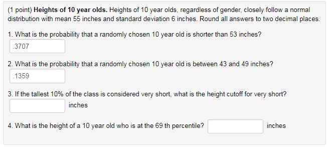1 Point Heights Of 10 Year Olds Heights Of 10 Year Olds Regardless