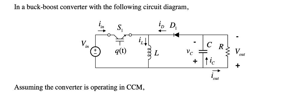 in a buck boost converter with the following circu chegg com Inverter Circuit Diagram