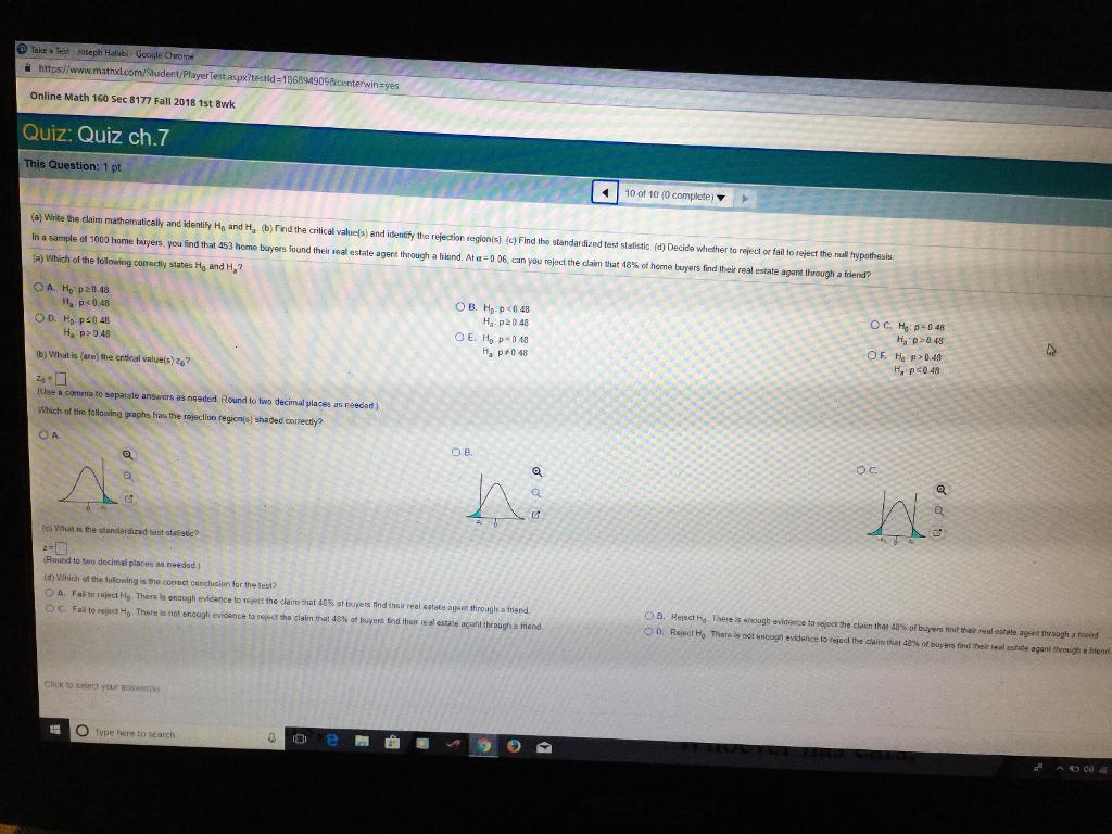 Solved: Take A Test Jaseph Halabi Google Chrome A Htps/www