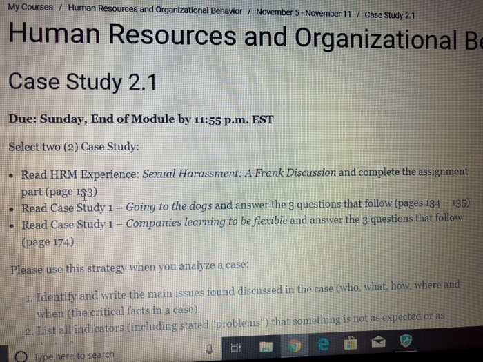 My Courses / Human Resources And Organizational Be