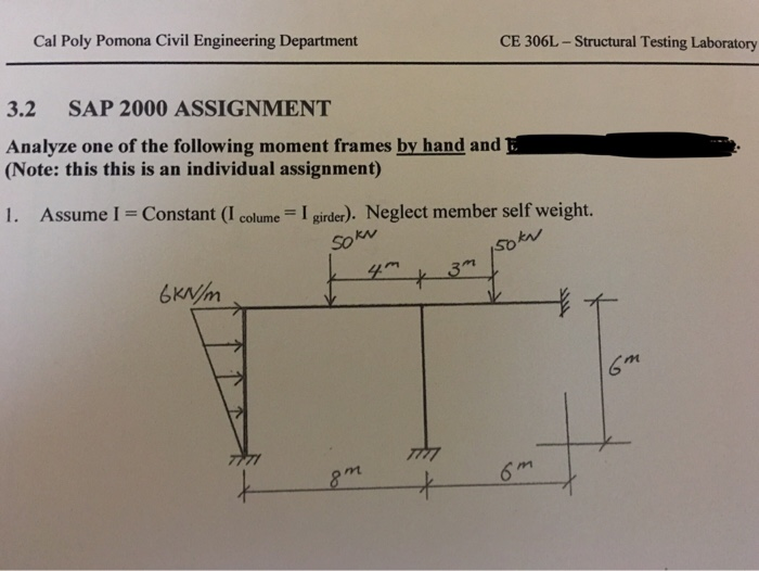 Solved: Cal Poly Pomona Civil Engineering Department CE 30