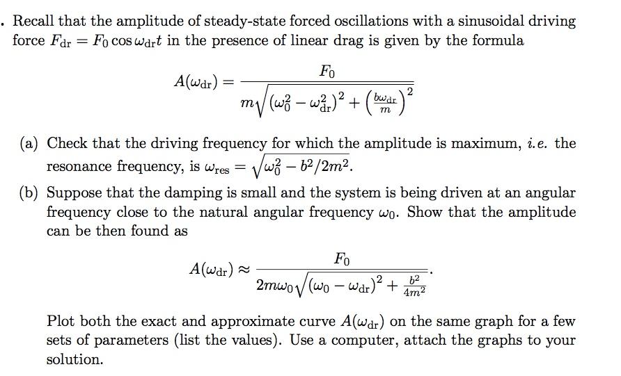 Angular Frequency Formula