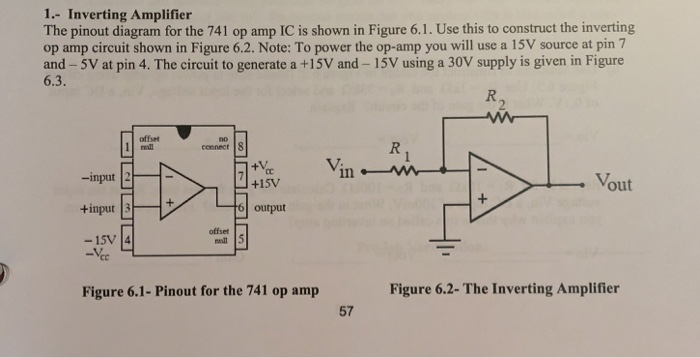 Marvelous Solved 1 Inverting Amplifier The Pinout Diagram For The Wiring Digital Resources Anistprontobusorg