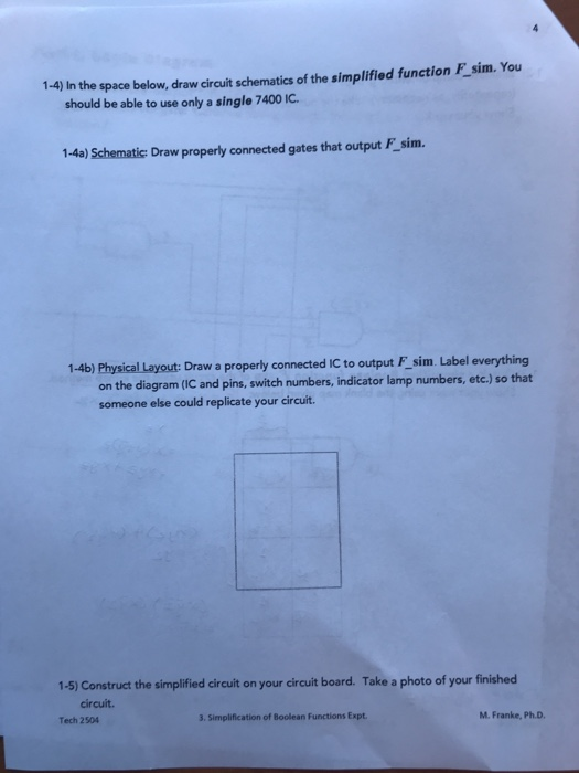 Solved: 1-4) In The Space Below, Draw Circuit Schematics O ...
