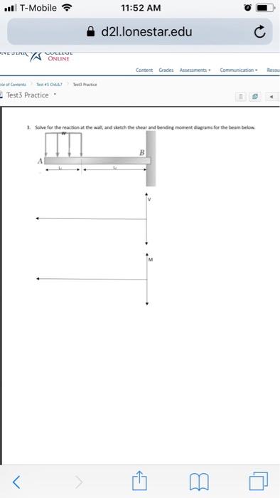 Solved: T-Mobile 11:52 AM A D2l lonestar edu ONLINE Conten