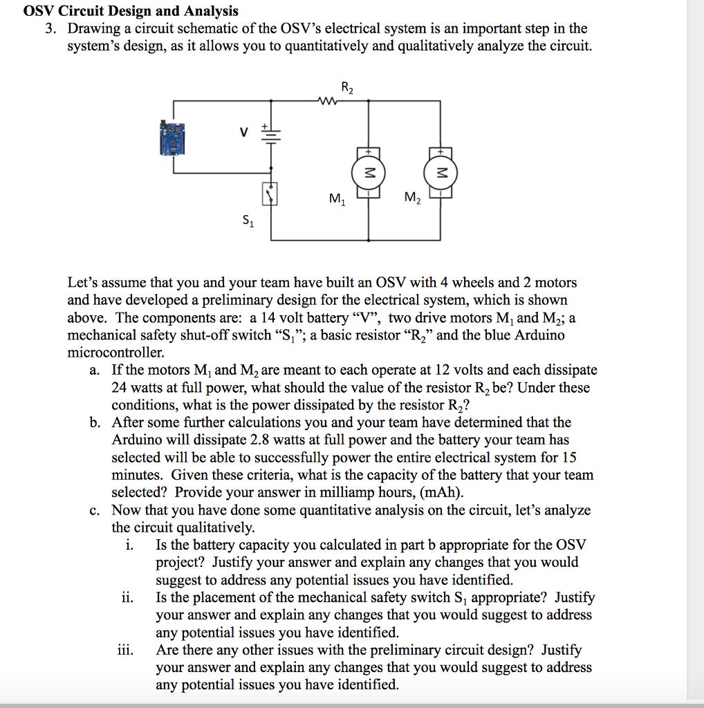 Solved Osv Circuit Design And Analysis 3 Drawing A Circu Chegg Com