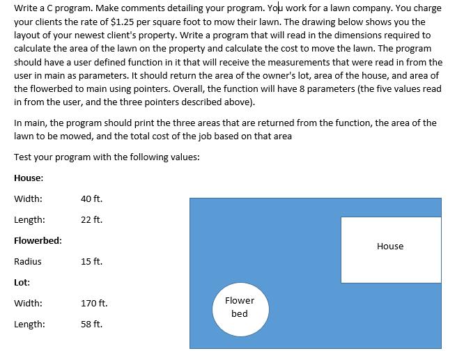 Solved: Write A C Program  Make Comments Detailing Your Pr