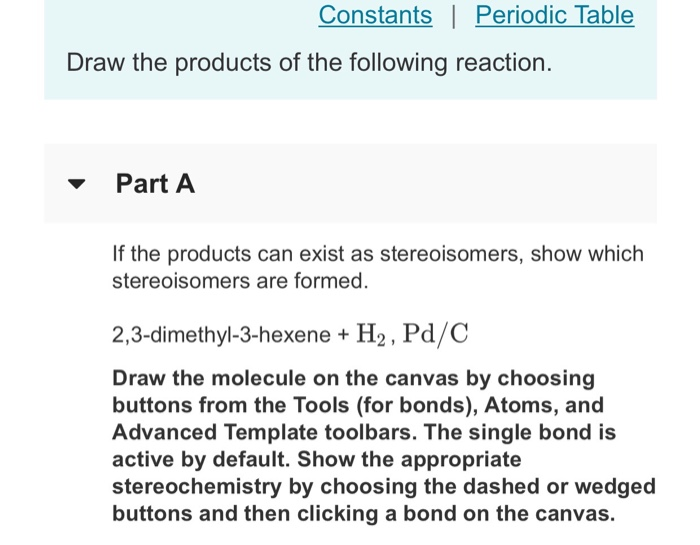 Solved Constants Periodic Table Draw The Products Of Th