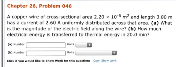 How Much Is Copper Wire | Solved A Copper Wire Of Cross Sectional Area 2 20 Times 1