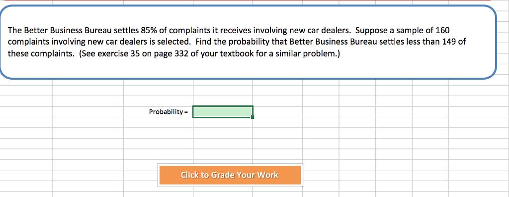 Solved The Better Business Bureau Settles 85 Of Complain