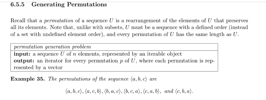 Solved: 6-2  Compute The List Of All Permutations Of 〈a,b