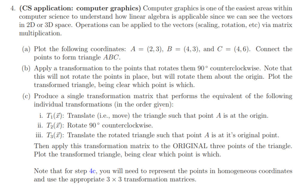 Solved: 4  (CS Application: Computer Graphics) Computer Gr