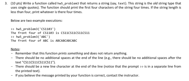 Solved: 3  (10 Pts) Write A Function Called Hws_problem3 T
