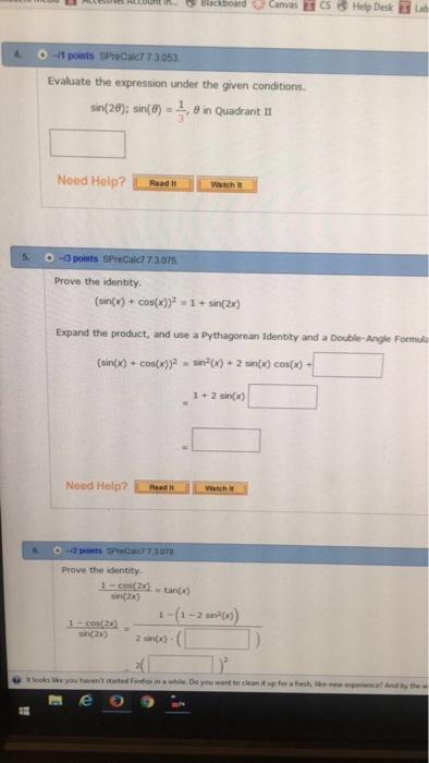 Ena T Buntit. G Blackboard Canvas Is Help Desk Lab 4.  11 Points