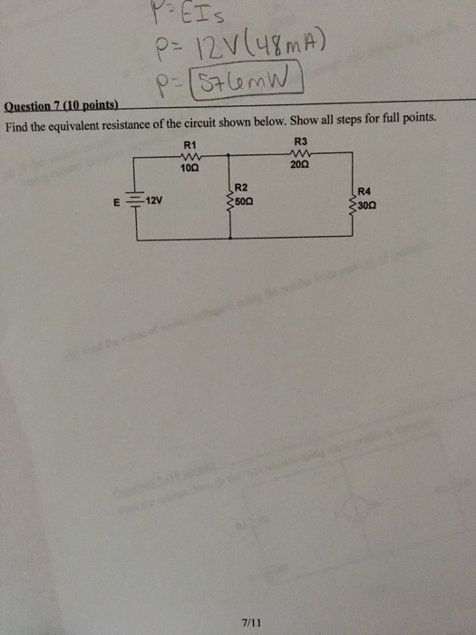 solved  find the equivalent resistance of the circuit show