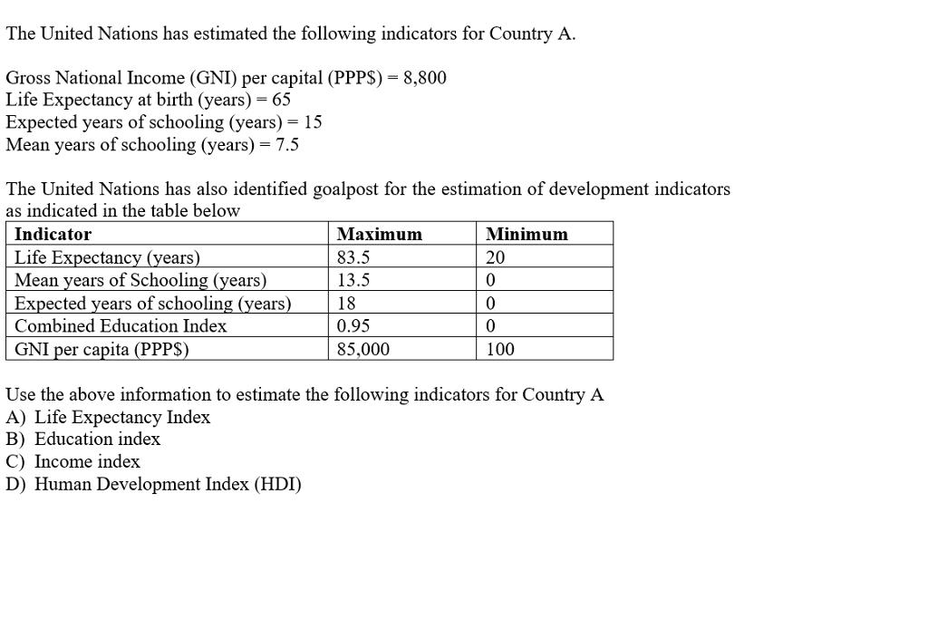 national income estimation