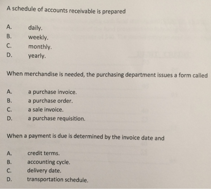 accounts receivable dating terms