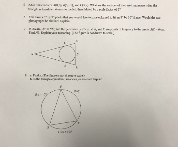 Solved: 5. AABC Has Vertices A(0,0), B(S.-1), And C(3,7 ...