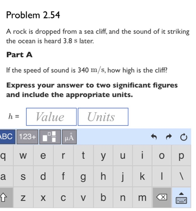 Solved: If The Speed Of Sound Is 340m/s, How High Is The C